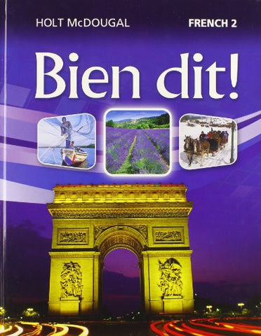 Bien dit!: Student Edition Level 2 2013 (French Edition)