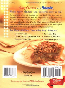 Betty Crocker Bisquick Impossibly Easy Pies: Pies that Magically Bake Their Own Crust
