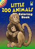 Little Zoo Animals Coloring Book (Dover Little Activity Books)