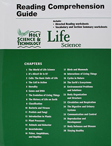 Holt Science & Technology: Life Science