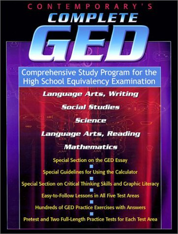 Contemporary's Complete Ged: Comprehensive Study Program for the High School Equivalency Examination