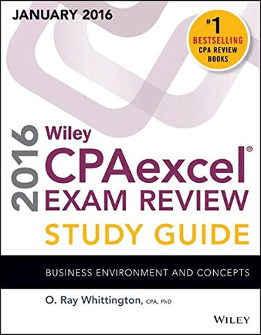 Wiley CPAexcel Exam Review 2016 Study Guide January: Business Environment and Concepts (Wiley Cpa Exam Review Business Environment & Concept