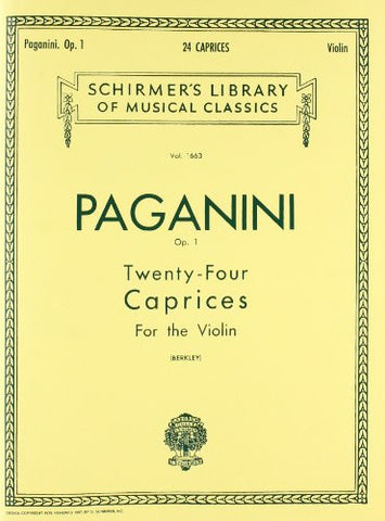 24 Caprices, Op. 1: Violin Solo (Schirmer's Library of Musical Classics)