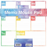 Elements Weekly Memo Mouse Desk Pad