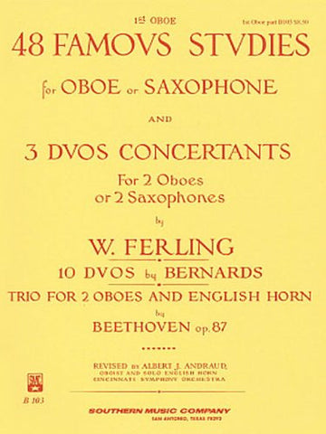 48 Famous Studies, (1st and 3rd Part): Oboe