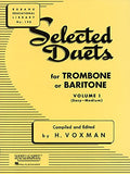 Selected Duets for Trombone or Baritone: Volume 1 - Easy to Medium (Rubank Educational Library)