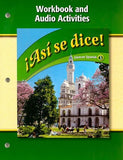 Asi Se Dice! Workbook and Audio Activities (Glencoe Spanish) (Spanish Edition)