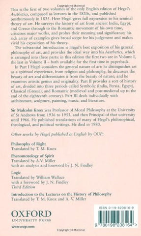 Hegel's Aesthetics: Lectures on Fine Art, Vol. I