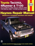 Toyota Tacoma, 4 Runner & T100 Automotive Repair Manual. Models covered: 2WD and 4WD Toyota Tacoma (1995 thru 2000), 4 Runner (1996 thru 200
