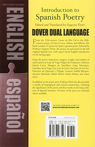 Introduction to Spanish Poetry: A Dual-Language Book (Dover Dual Language Spanish)