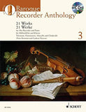 BAROQUE RECORDER ANTHOLOGY   VOL. 3: 21 WORKS FOR TREBLE  RECORDER AND PIANO BOOK/CD