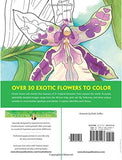 Creative Haven Tropical Blooms Coloring Book (Adult Coloring)