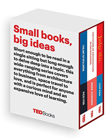 TED Books Box Set: The Creative Mind: The Art of Stillness, The Future of Architecture, and Judge This