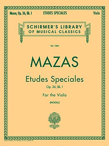 Etudes Speciales, Op. 36 - Book 1: Viola Method