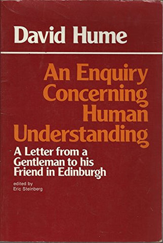 An Enquiry Concerning Human Understanding: A Letter from a Gentleman to His Friend in Edinburgh