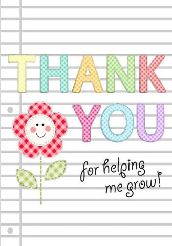 Thank You for Helping Me Grow: Teacher Appreciation Gift Notebook or Journal: Thank You Notebook for Teacher, Babysitter, Coach (Blank Noteb