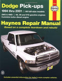 Dodge Full-Size Pickups, 1994-2001 (Haynes Repair Manuals)