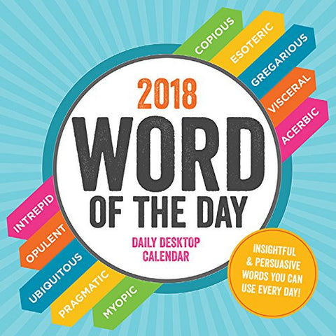 2018 Word of the Day Daily Desktop Calendar