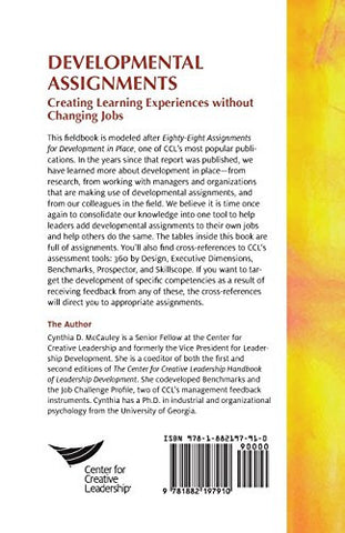 Developmental Assignments: Creating Learning Experiences Without Changing Jobs (CCL)