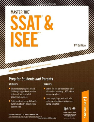 Master The SSAT* & ISEE**: Prep for Students and Parents (Master the SSAT and ISEE)