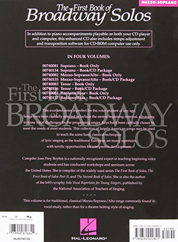First Book of Broadway Solos: Mezzo-Soprano Edition