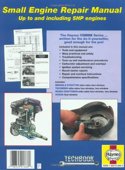 Small Engine Repair Manual, up to and including 5 HP engines (Haynes Manuals)