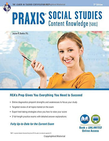 Praxis Social Studies Content Knowledge (5081): Book + Online (PRAXIS Teacher Certification Test Prep)