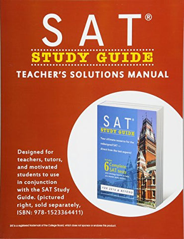 SAT Study Guide: Teacher's Solutions Manual