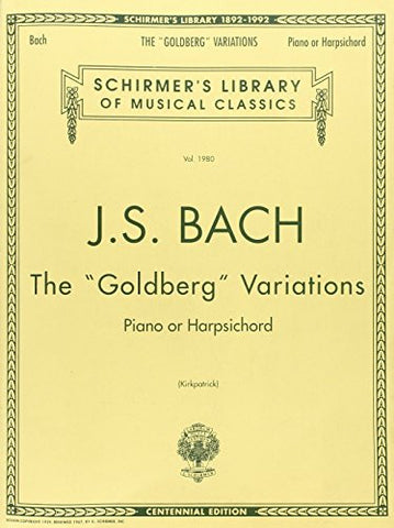 Bach: Goldberg Variations: Schirmer's Library of Musical Classics