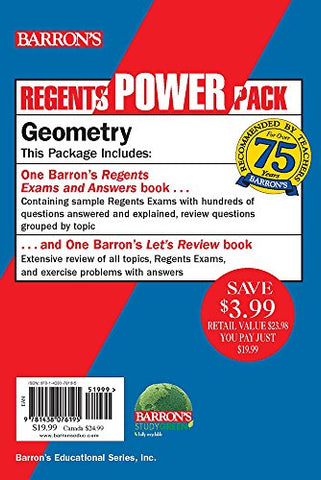 Geometry Power Pack (Barron's Regents Power Pack)