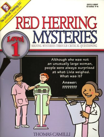 Red Herring Mysteries: Solving Mysteries Through Critical Questioning, Level 1
