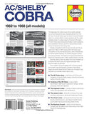 AC/Shelby Cobra: 1962 to 1968 (all models) (Owners' Workshop Manual)