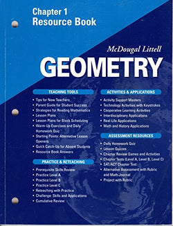 McDougal Littell - Geometry - Chapter 1 Resource Book