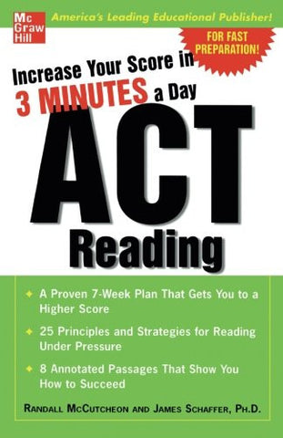Increase Your Score In 3 Minutes A Day: ACT Reading (Test Prep)
