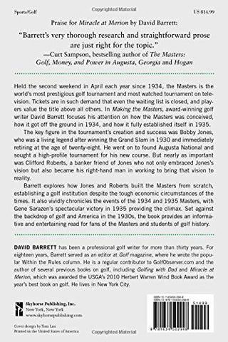 Making the Masters: Bobby Jones and the Birth of America's Greatest Golf Tournament