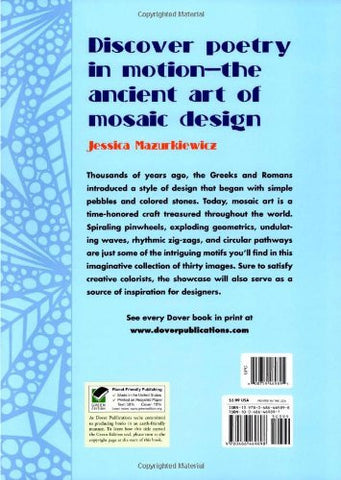 Magnificent Mosaics (Dover Design Coloring Books)