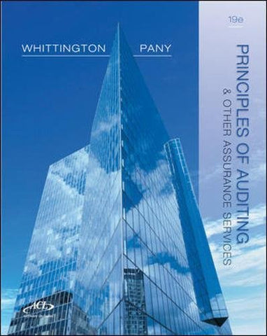 Principles of Auditing and Other Assurance Services,  19th Edition (Irwin Accounting)