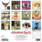 Chihuahua Rules 2018 Wall Calendar (Dog Breed Calendar)