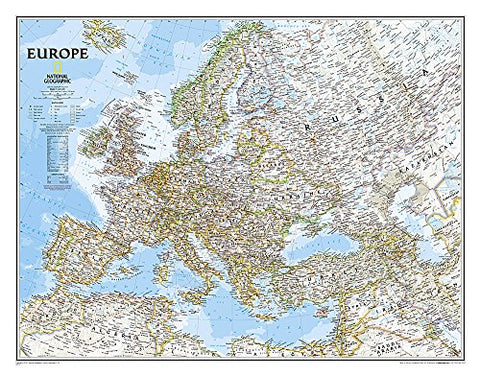 Europe Classic – Laminated (National Geographic Reference Map)