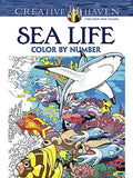 Creative Haven Sea Life Color by Number Coloring Book (Adult Coloring)