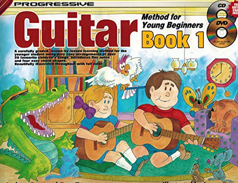 CP18322 - Guitar Method for Young Beginners Bk 1 Bk&CD&DVD (Progressive Young Beginners)