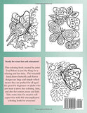 Simple Flowers and Butterflies in Large Print: Hand drawn easy designs and large pictures of butterflies and flowers coloring book for adult