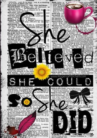 She Believed She Could So She Did - A Journal (College Rule): College Rule Edition 2017