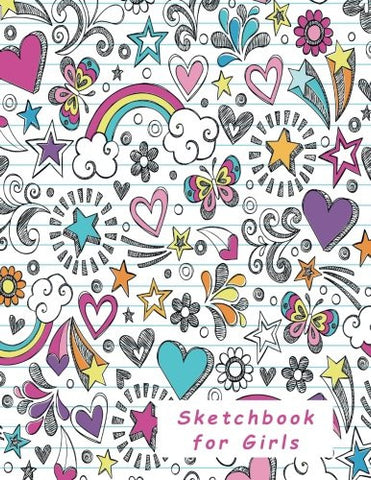 Sketchbook for Girls: Blank Pages, Extra large (8.5 x 11) inches, 110 pages, White paper, Sketch, Doodle and Draw