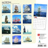 Tall Ships 2018 12 x 12 Inch Monthly Square Wall Calendar, Boat Sailing