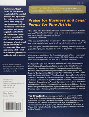 Business And Legal Forms For Fine Artists Business And Legal Forms - Legal form books