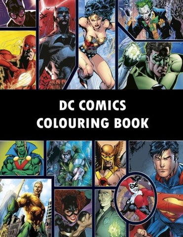DC Comics Colouring Book: Comic, Comic strip, super heroes, hero, Vilains, The Flash, Wonderwoman, Lex Luthor, Present, Gift, Coloring, Than