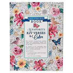"""My Favorite KJV Verses to Color"" Inspirational Adult Coloring Book"