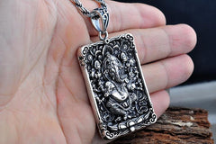 Ganesha Buddha Pendant Necklace