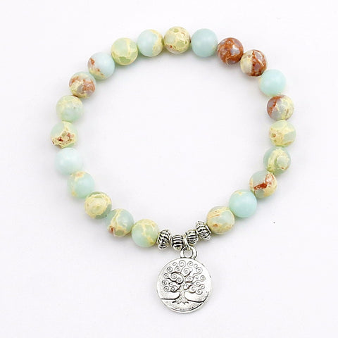 The Tree Of Life Pendent Chakra Bracelet